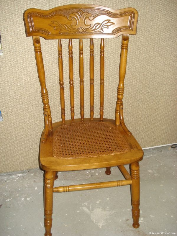 Charmant Cane Webbing Chair Seat Repaired