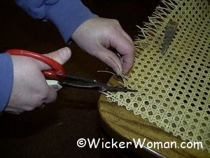 clip corners cane webbing