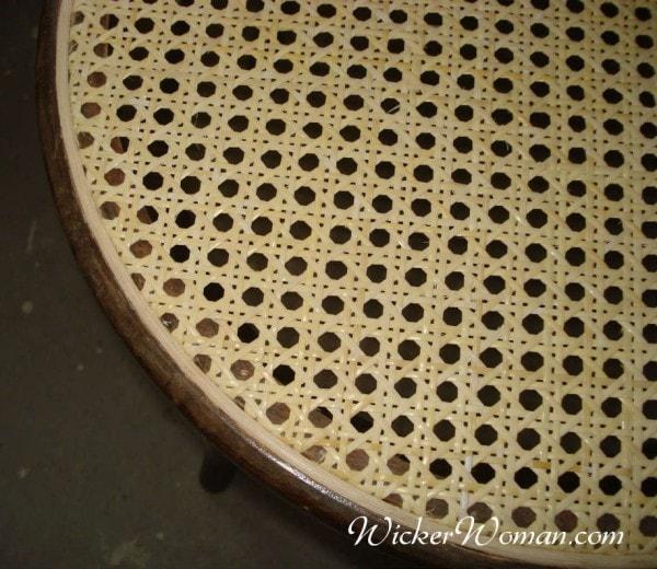 Cane webbing spline seat