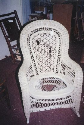 Victorian Antique Wicker Rocker Photos