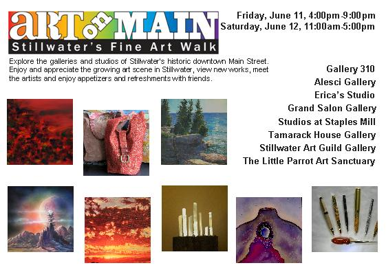 Art on Main, Stillwater, MN Fine Art Walk June 2010