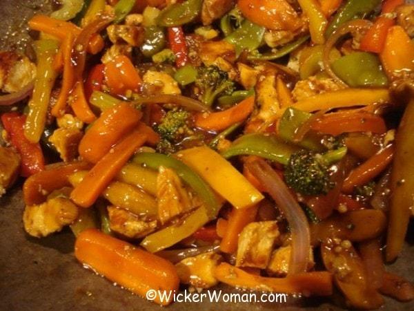 stir fry chicken-veggie