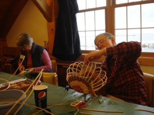 North House antler basket class students 11-2013