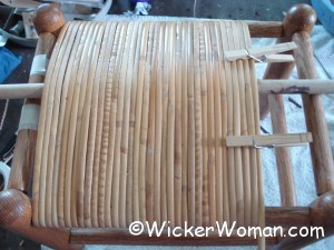 tension rod setting cane warp