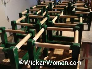 twill cane stool frames