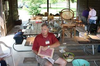 Wayne Sharp chair caning demonstration