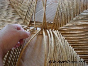 paper rush seat weaving