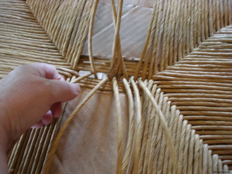 Basket Weaving Process : How to identify woven chair seat patterns
