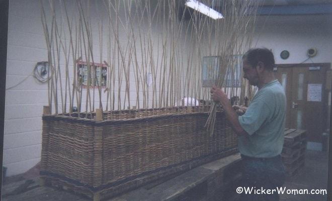 Willow Basket Weaving Somerset : Somerset willow coffin making