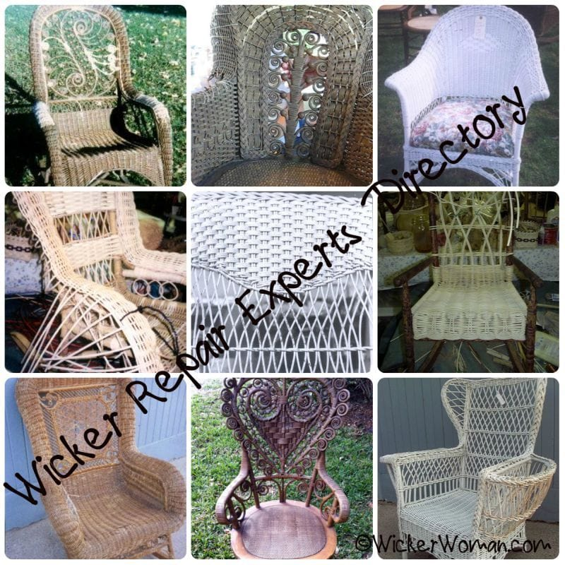 wicker repair photo collage
