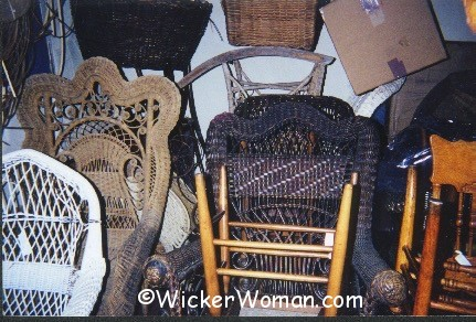 wicker furniture waiting repair