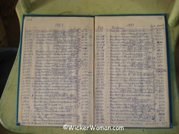 wicker repair appointment book