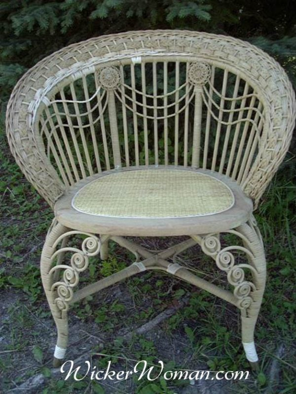 Victorian wicker swag chair