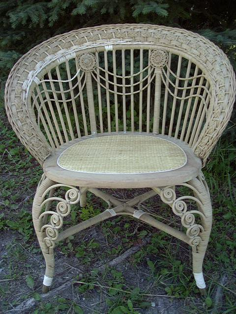 Heywood wicker chair - Antique Wicker Furniture #101--History, Repair, Tips
