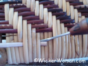 caning tension rods--weaving last rows