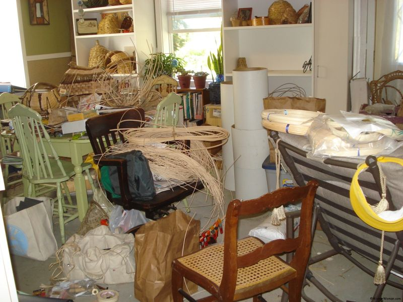 Cleaning Weaving Studio–Again!